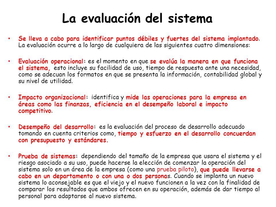 La evaluación del sistema