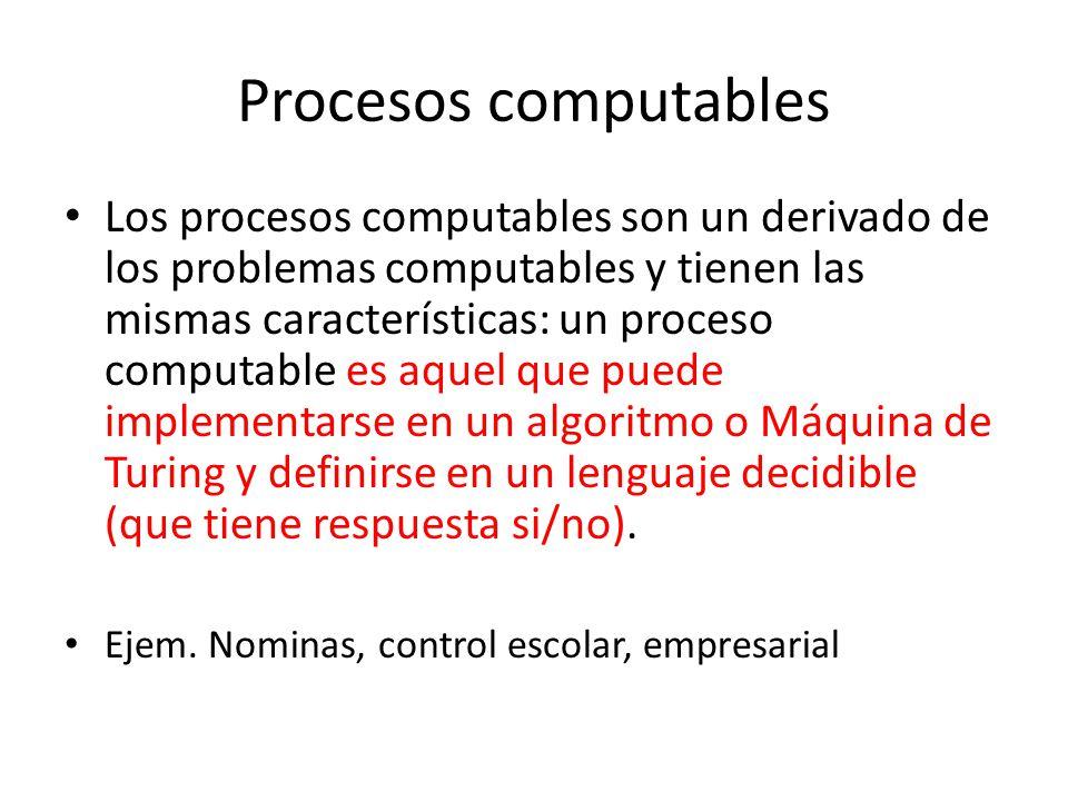 Procesos computables