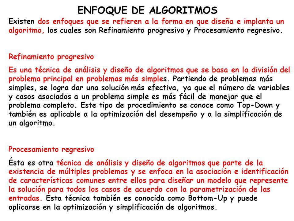 ENFOQUE DE ALGORITMOS