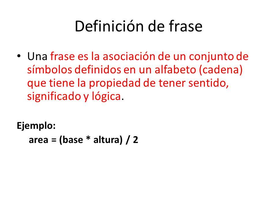 Definición de frase