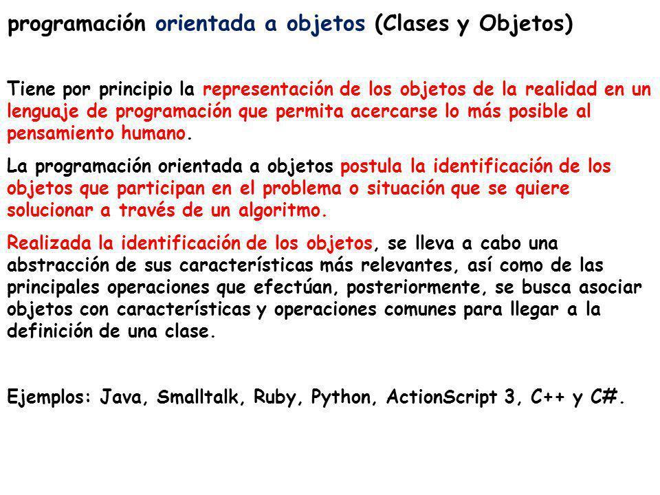 programación orientada a objetos (Clases y Objetos)