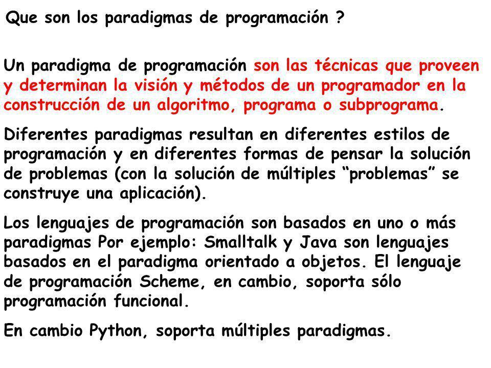Que son los paradigmas de programación