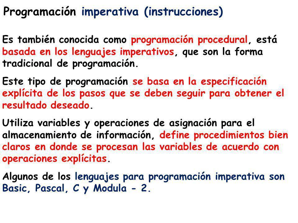 Programación imperativa (instrucciones)