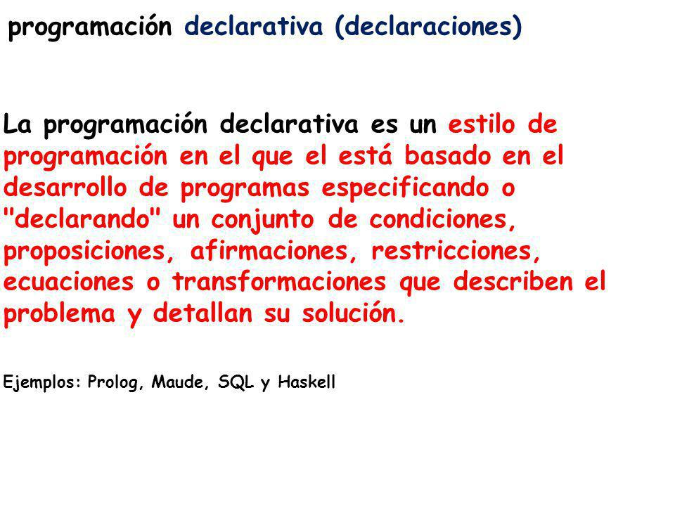 programación declarativa (declaraciones)