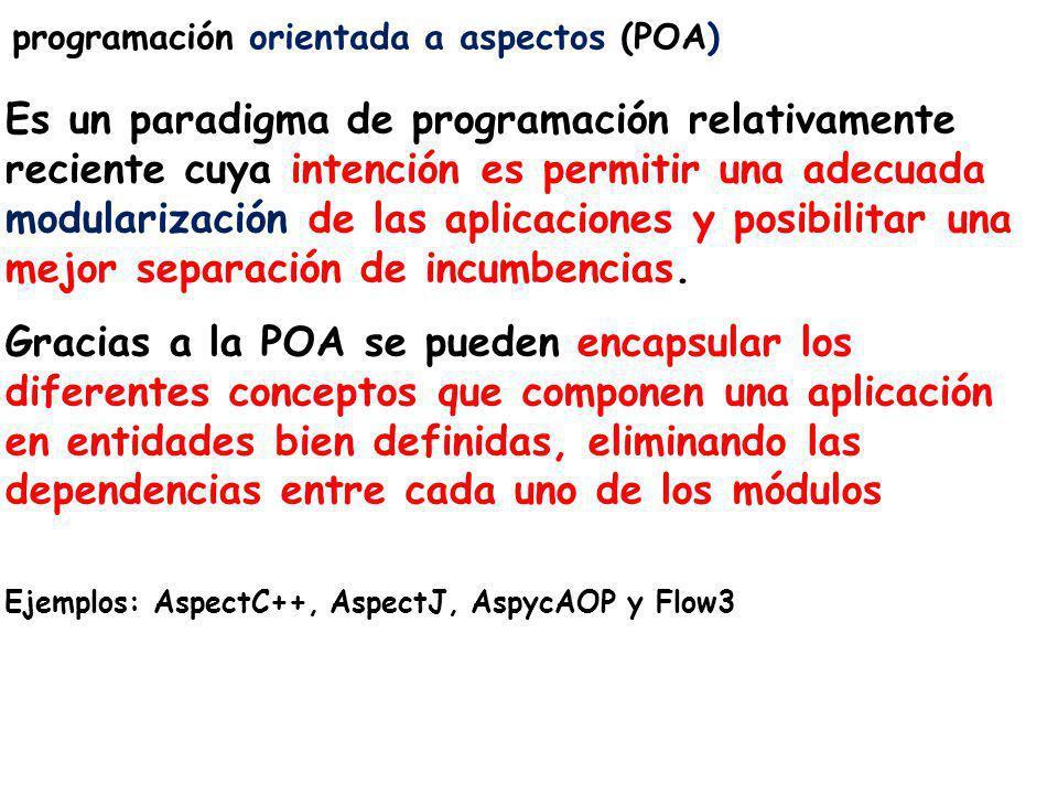programación orientada a aspectos (POA)