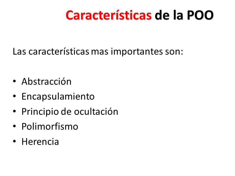 Características de la POO