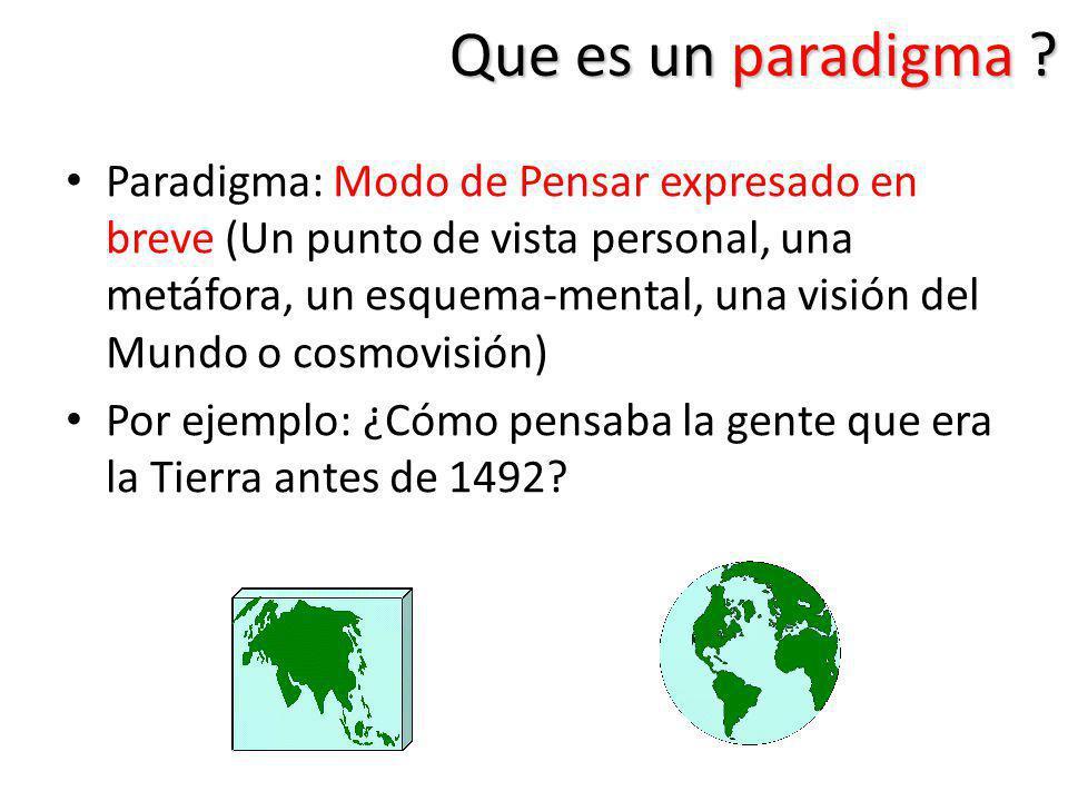 Que es un paradigma