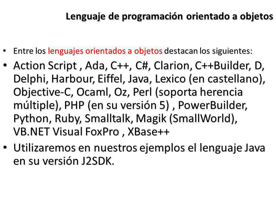 Lenguaje de programación orientado a objetos