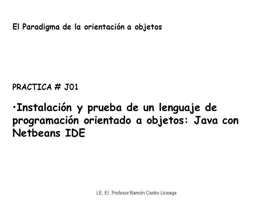 LE, EI, Profesor Ramón Castro Liceaga