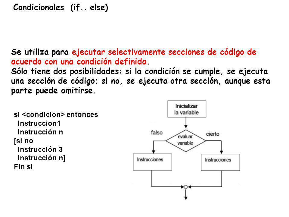 Condicionales (if.. else)