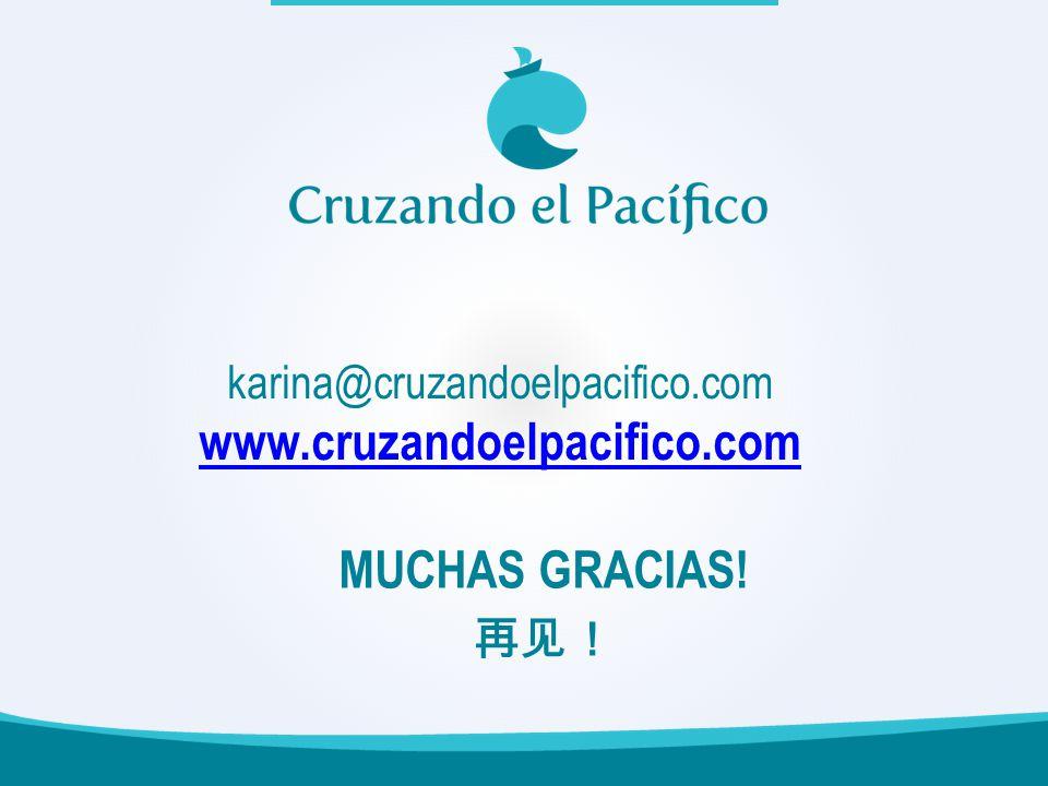 karina@cruzandoelpacifico.com www.cruzandoelpacifico.com