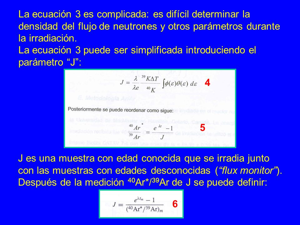 La ecuación 3 es complicada: es difícil determinar la
