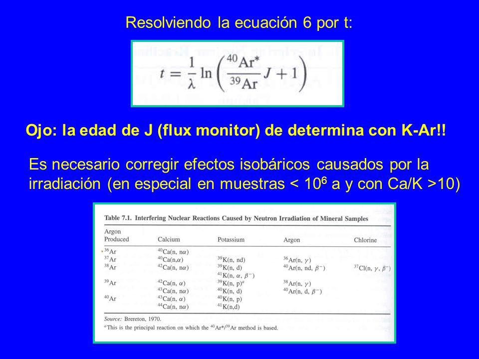 Resolviendo la ecuación 6 por t: