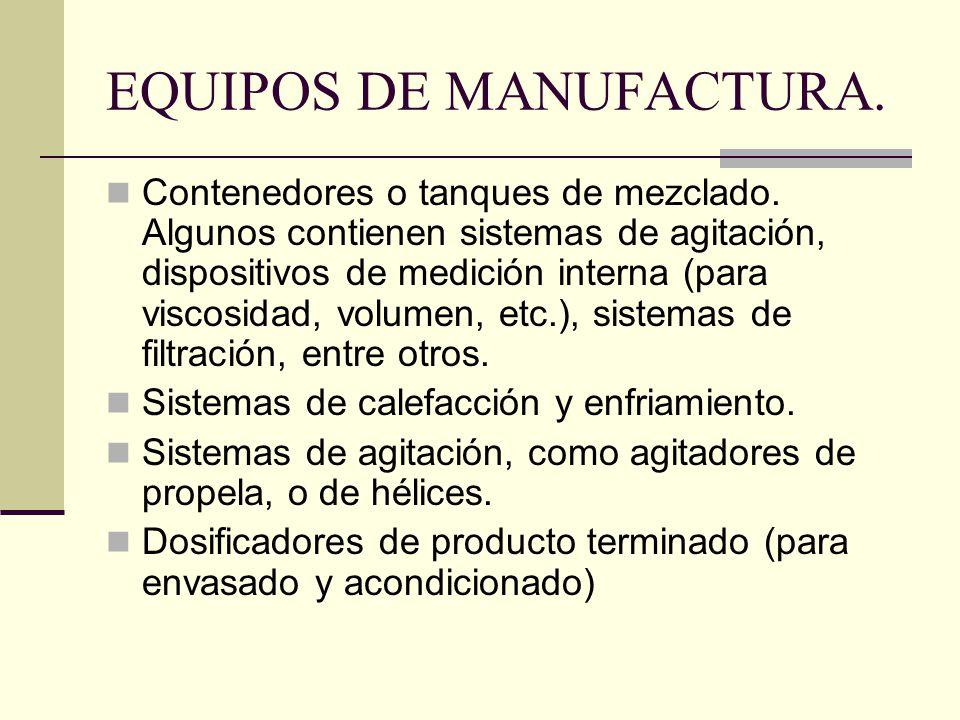 EQUIPOS DE MANUFACTURA.