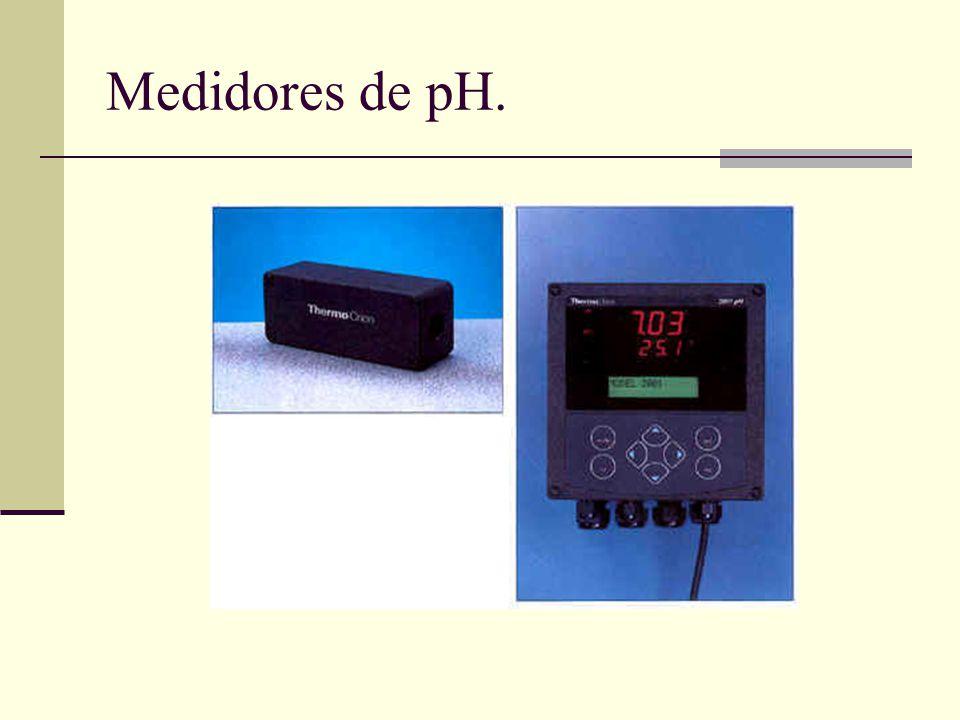 Medidores de pH.