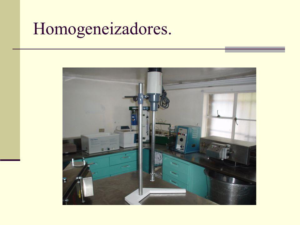 Homogeneizadores.