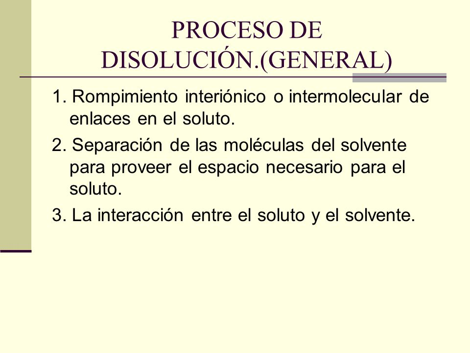 PROCESO DE DISOLUCIÓN.(GENERAL)