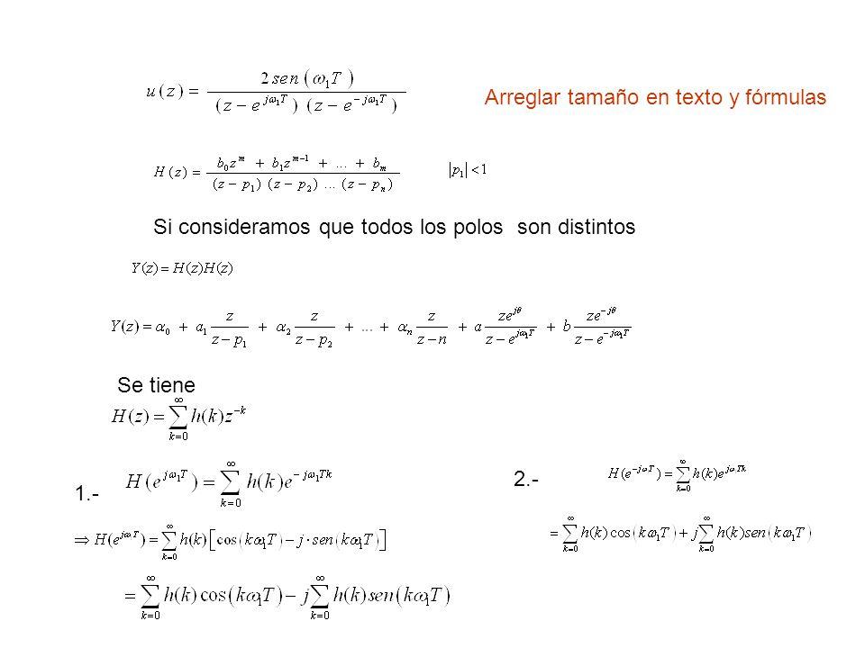 Arreglar tamaño en texto y fórmulas