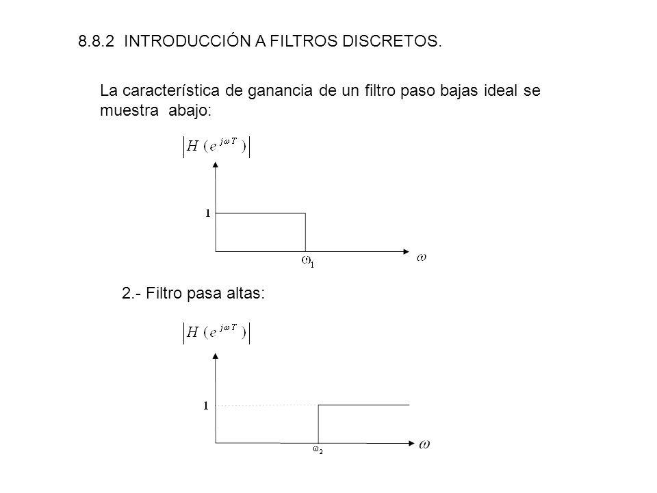 8.8.2 INTRODUCCIÓN A FILTROS DISCRETOS.