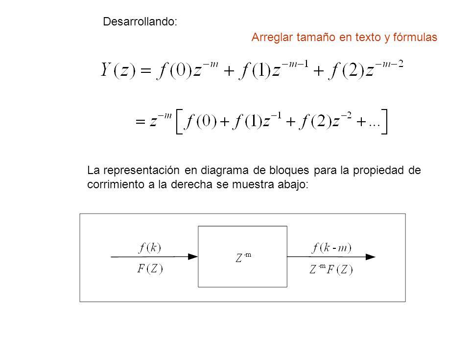 Desarrollando: Arreglar tamaño en texto y fórmulas.