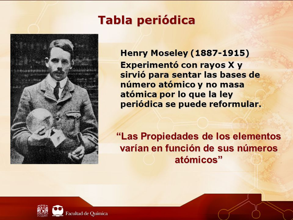 Tabla periódica Henry Moseley (1887-1915)