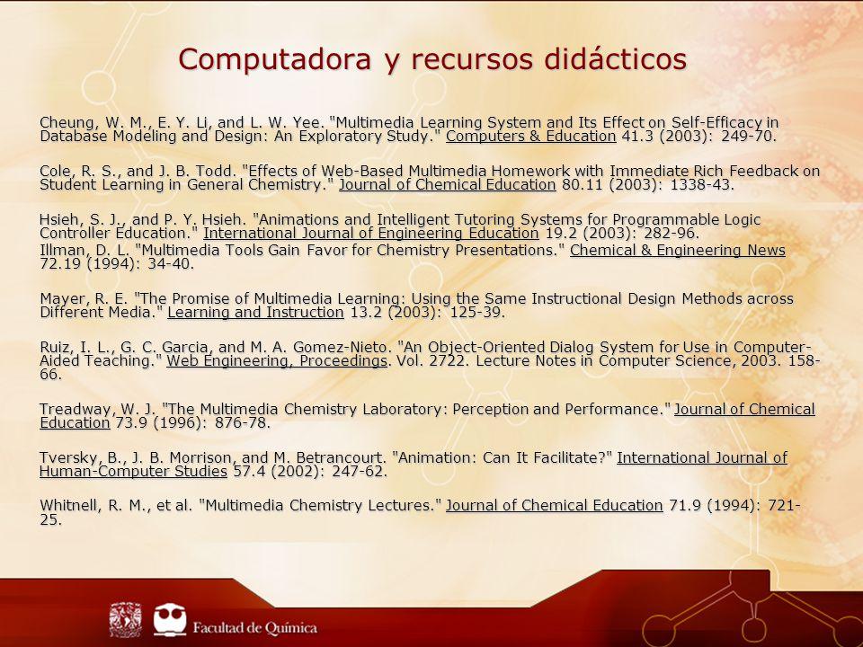 Computadora y recursos didácticos