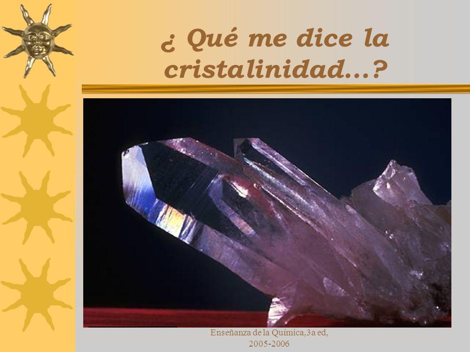 ¿ Qué me dice la cristalinidad...