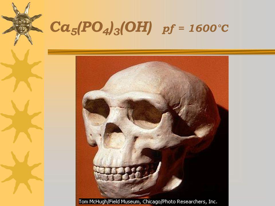 Ca5(PO4)3(OH) pf = 1600°C Curso Estratetgias Didácticas para la Enseñanza de la Química,3a ed, 2005-2006.