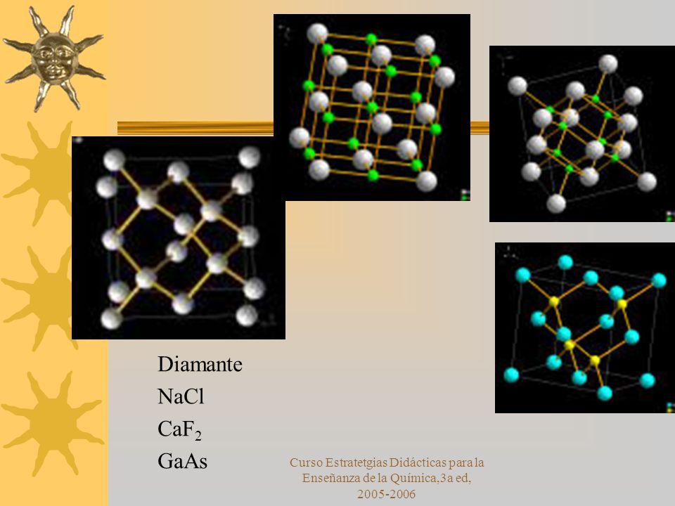 Diamante NaCl. CaF2. GaAs.