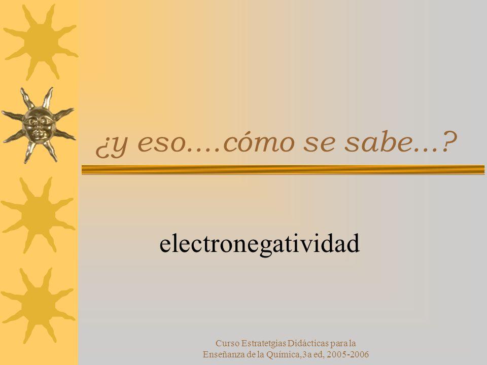 ¿y eso....cómo se sabe... electronegatividad