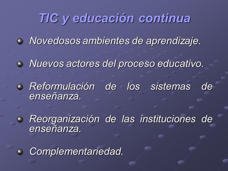 TIC y educación continua
