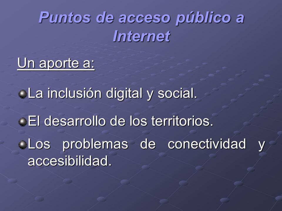 Puntos de acceso público a Internet