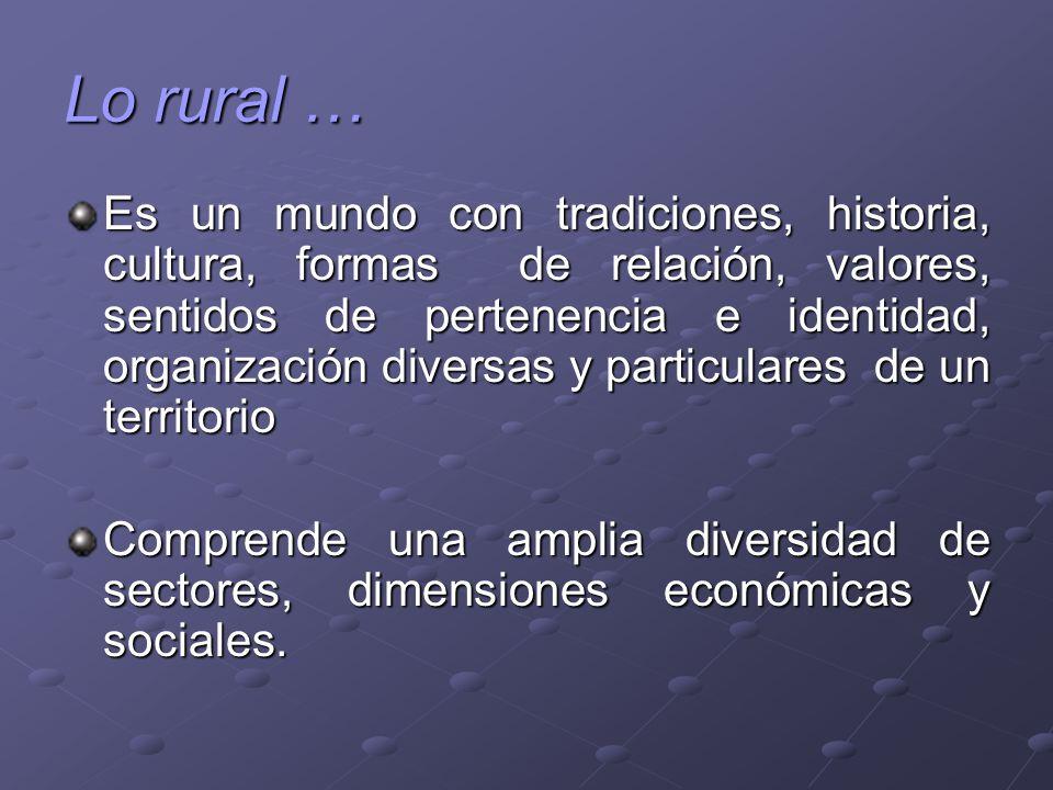 Lo rural …