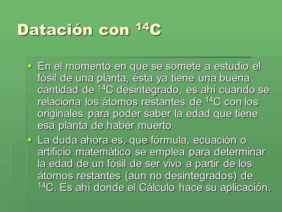 Datación con 14C