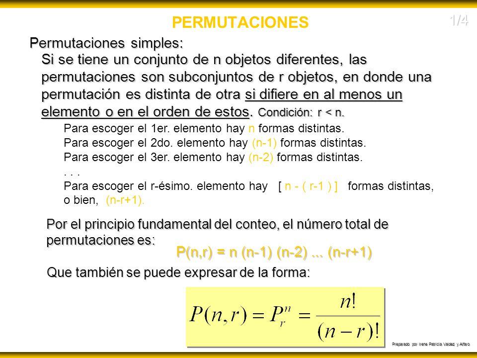P(n,r) = n (n-1) (n-2) ... (n-r+1)