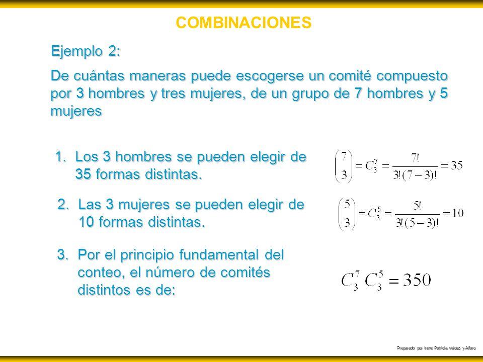 COMBINACIONES Ejemplo 2:
