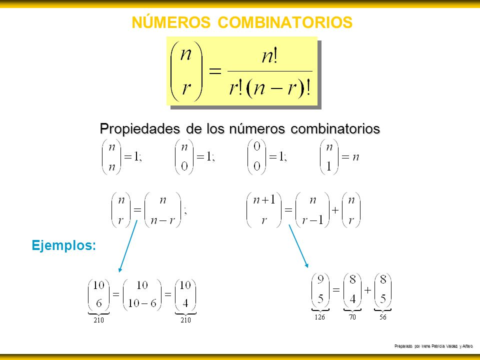 NÚMEROS COMBINATORIOS