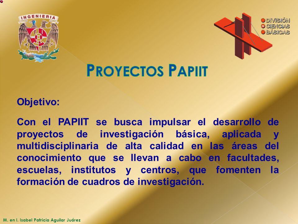 Proyectos Papiit Objetivo: