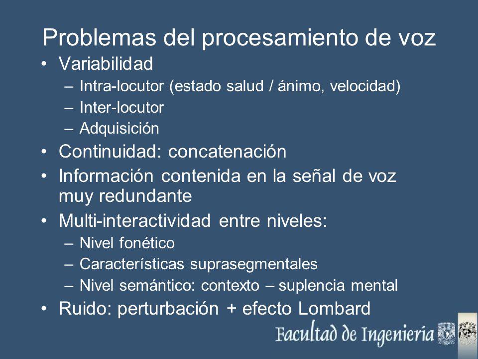 Problemas del procesamiento de voz