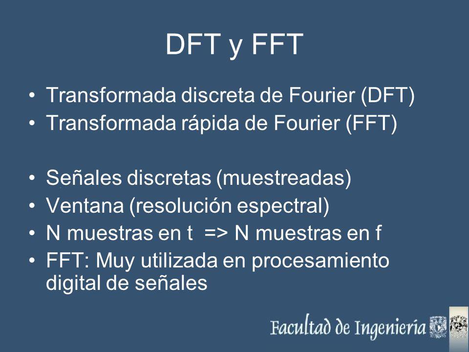 DFT y FFT Transformada discreta de Fourier (DFT)