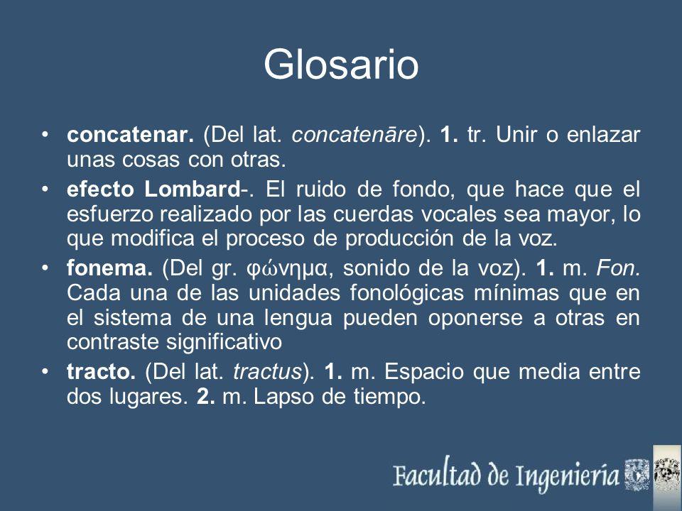 Glosario concatenar. (Del lat. concatenāre). 1. tr. Unir o enlazar unas cosas con otras.