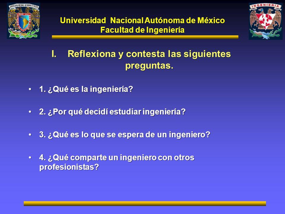 Reflexiona y contesta las siguientes preguntas.