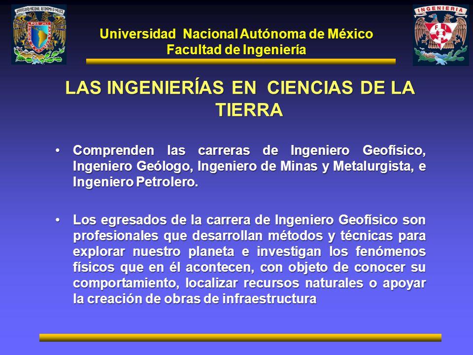 LAS INGENIERÍAS EN CIENCIAS DE LA TIERRA