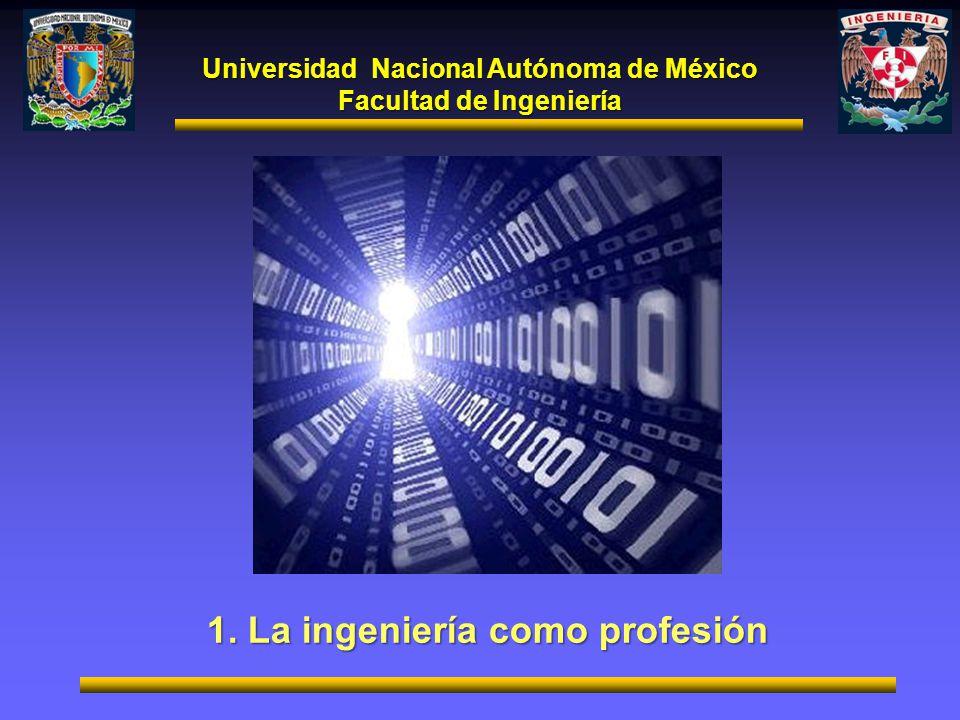 1. La ingeniería como profesión