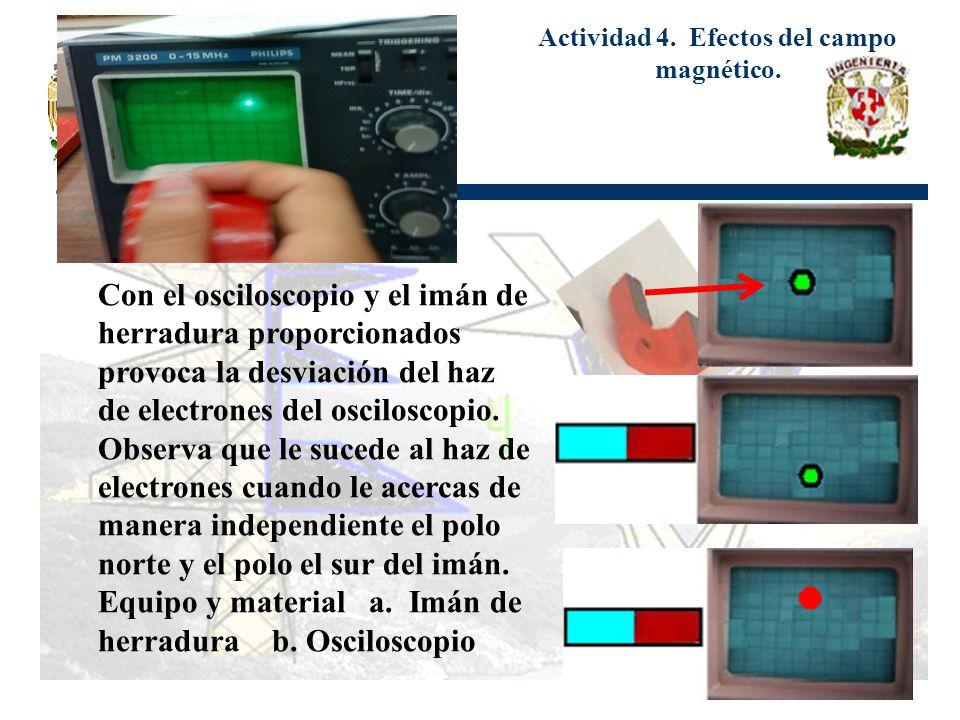 Actividad 4. Efectos del campo magnético.