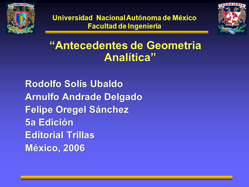 Antecedentes de Geometria Analítica