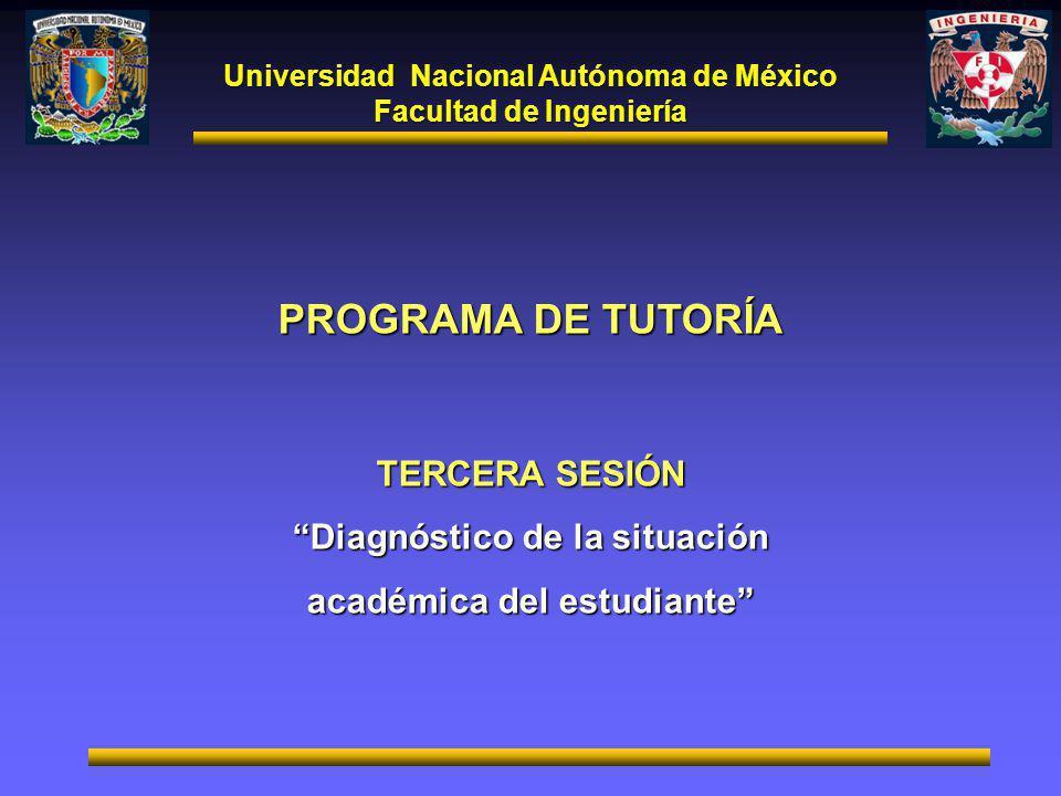 PROGRAMA DE TUTORÍA TERCERA SESIÓN Diagnóstico de la situación