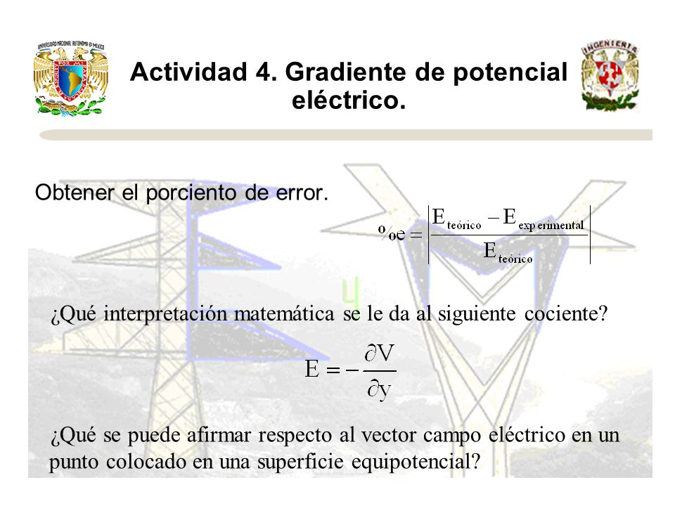 Actividad 4. Gradiente de potencial eléctrico.