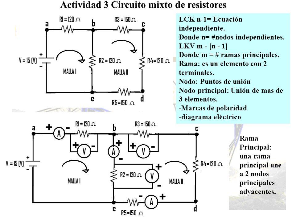 Actividad 3 Circuito mixto de resistores