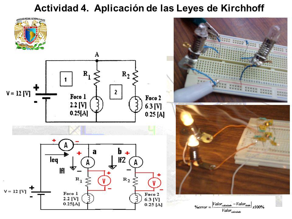 Actividad 4. Aplicación de las Leyes de Kirchhoff